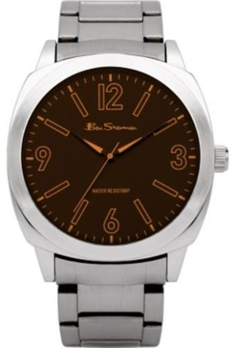Ben Sherman Mens Silver Watch With Brown Face