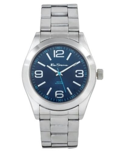Ben Sherman Mens Silver Watch With Blue Face