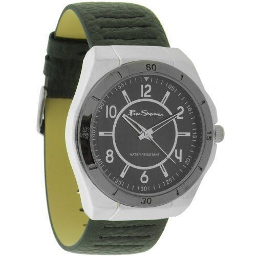 Ben Sherman Mens Green Watch With Black Face