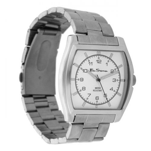 Ben Sherman Mens Silver Watch With White Face