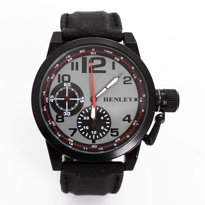 Henley 3 Dial Explorers Watch - Black
