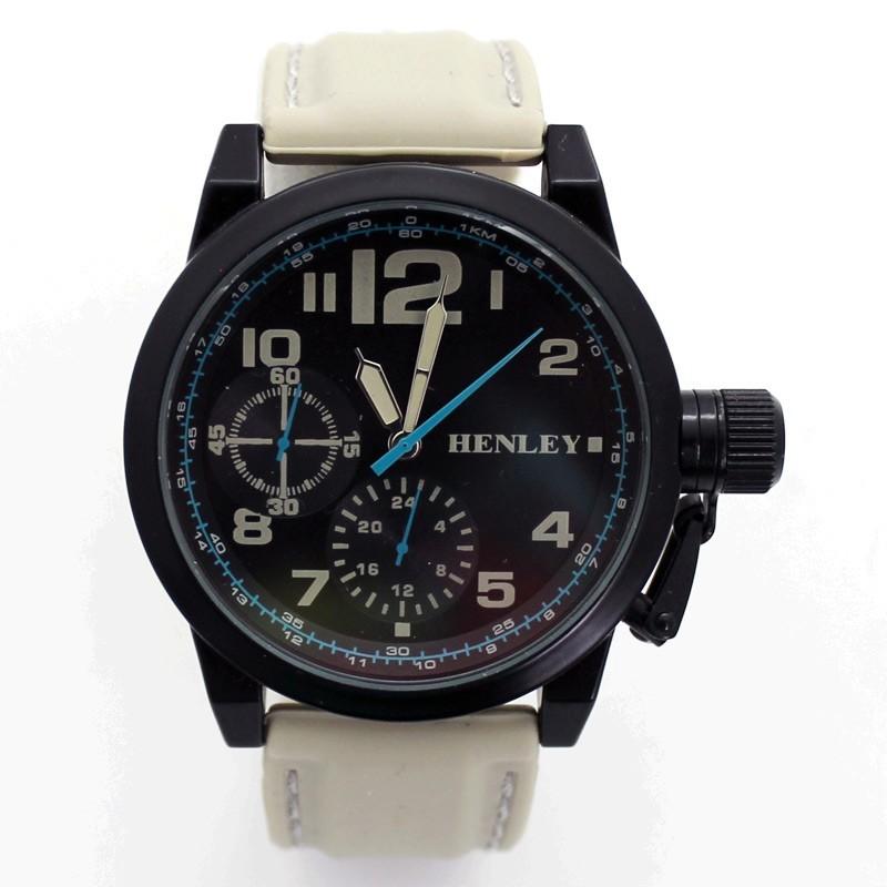 Henley 3 Dial Explorers Watch - Cream