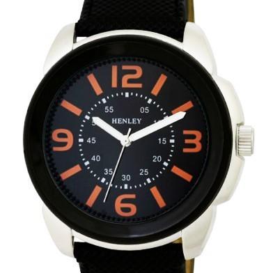 Henley Gents Watch - Black Top Ring