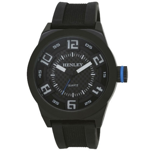 Henley Gents Watch - Black / White / Blue