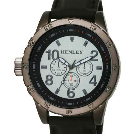 Henley Gents Watch - Gun / Black
