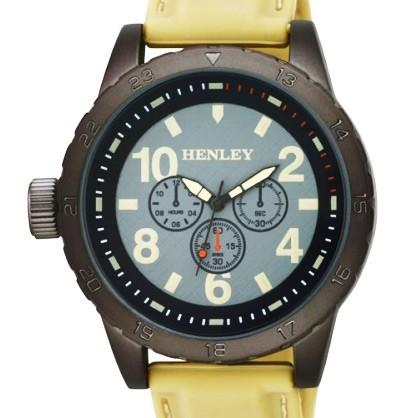 Henley Gents Watch - Gun / Stone