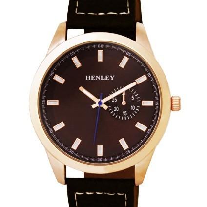 Henley Gents Watch - Rose Gold / Brown