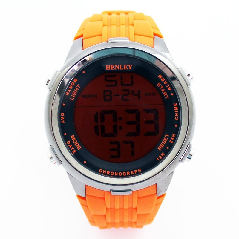 Henley Large Display Sports Watch - Orange