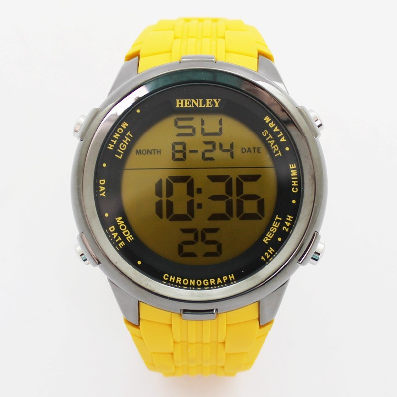 Henley Large Display Sports Watch - Yellow