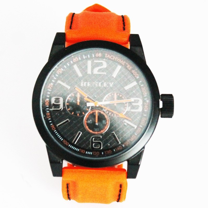 Henley Mens Large Dial Watch - Orange