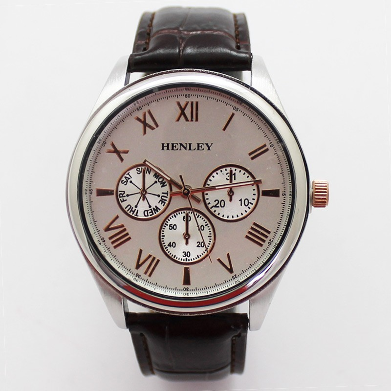 Henley Mens Classic Style Watch - Rose Gold