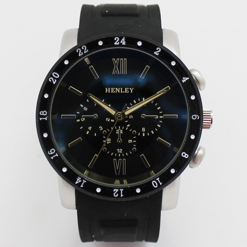 Henley Mens Large Watch - Black