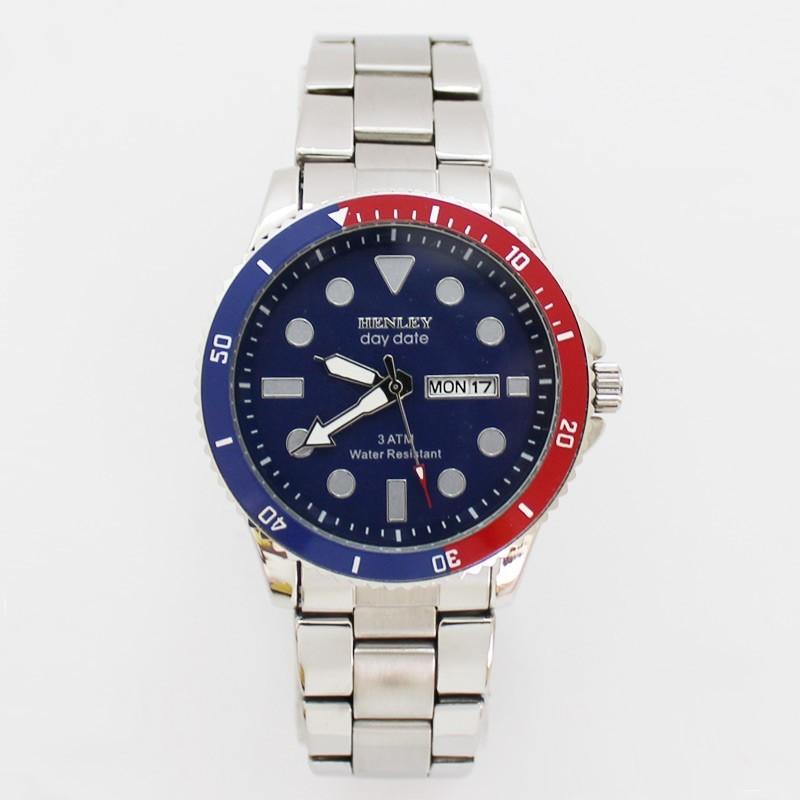 Henley Mens Water Resistant Watch - Blue