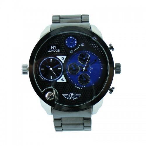 NY London Triple Time Watch - Blue