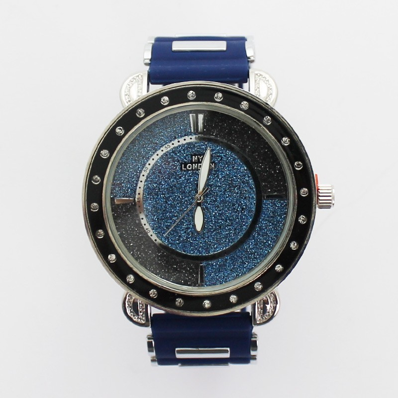 NY London Mens Watch With Glitter Background - Blue