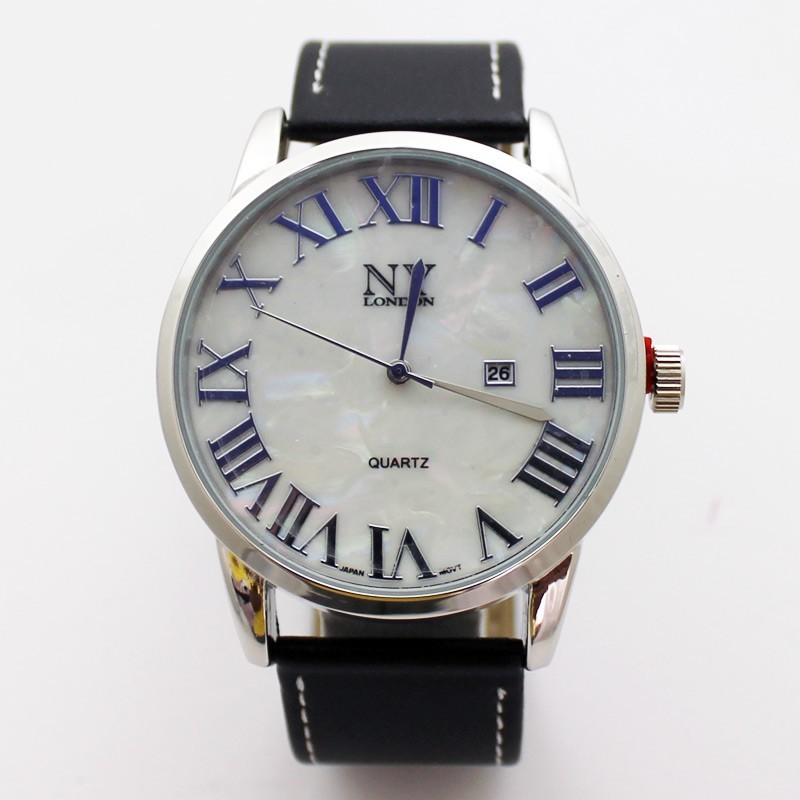 NY London Mens Classic Style Watch - Silver / Black