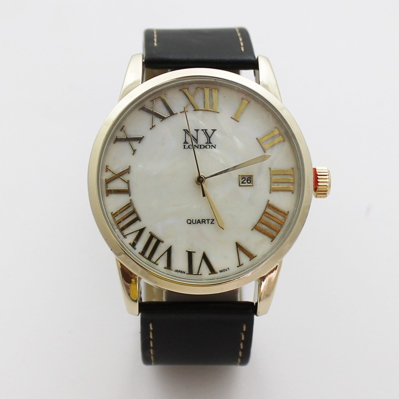 NY London Mens Classic Style Watch - Gold / Black