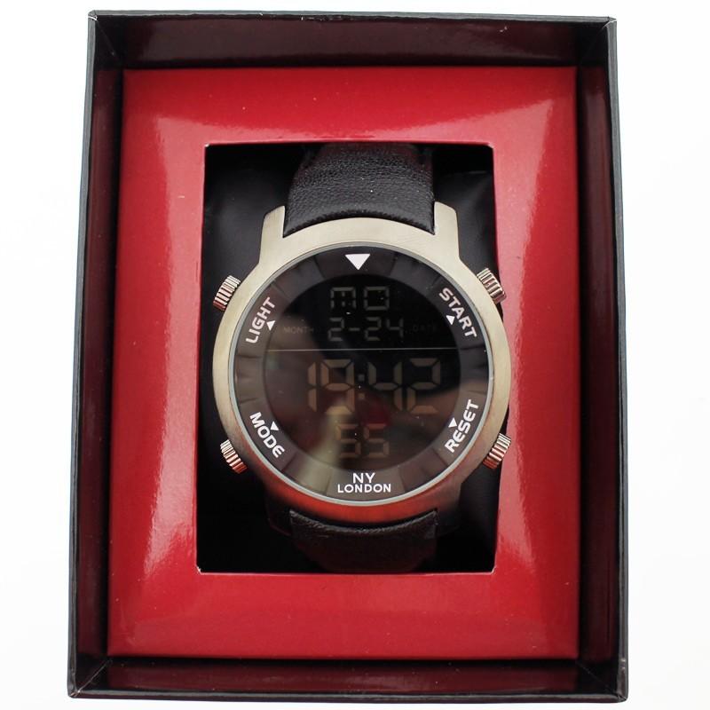 NY London Mens Wrist Digital Watch - Black