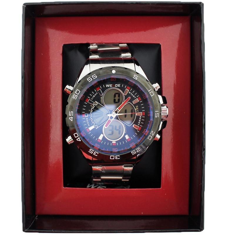 NY London Men's Wrist Digital Clock Watch - Red