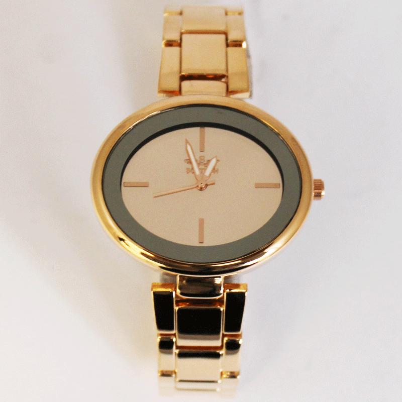 Softech Oval Shaped Watch - Rose Gold