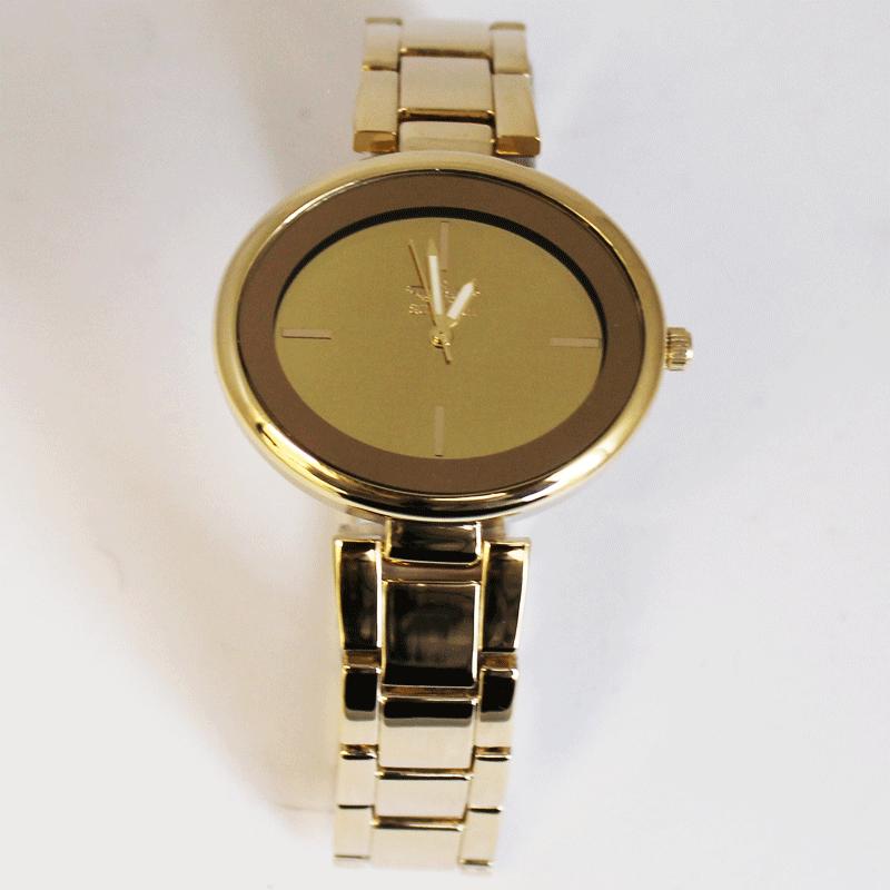Softech Oval Shaped Watch - Gold