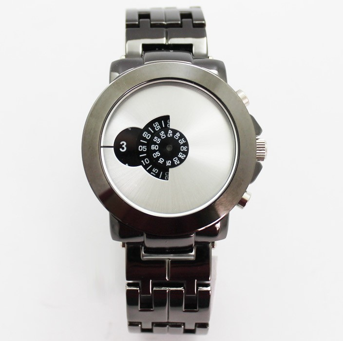 Softech Mens Watch with Individual Display - Silver & Black
