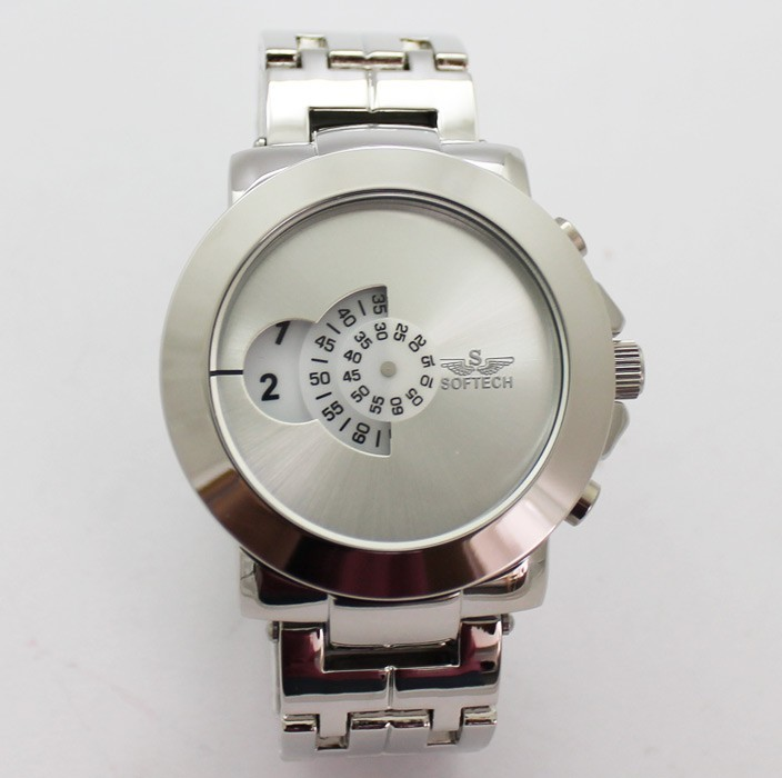 Softech Mens Watch with Individual Display - Silver