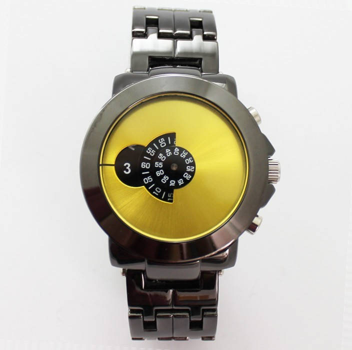 Softech Mens Watch with Individual Display - Gold