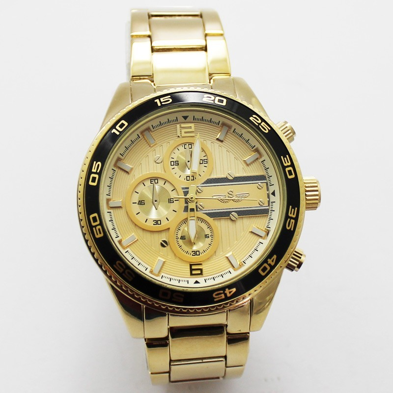 Softech Mens 3 Dial Design Watch - Gold
