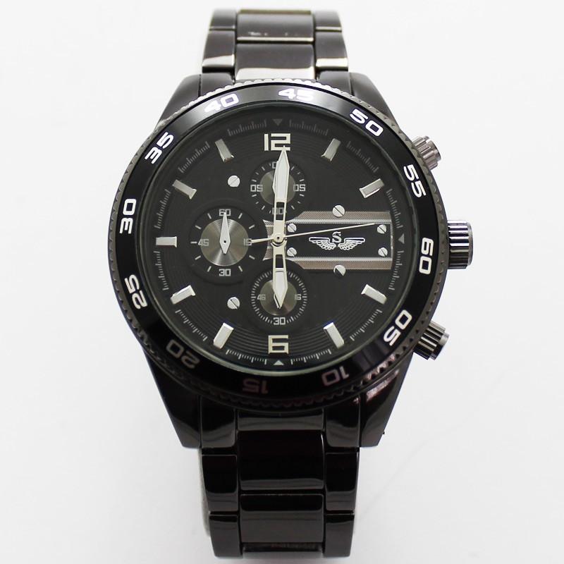 Softech Mens 3 Dial Design Watch - Black