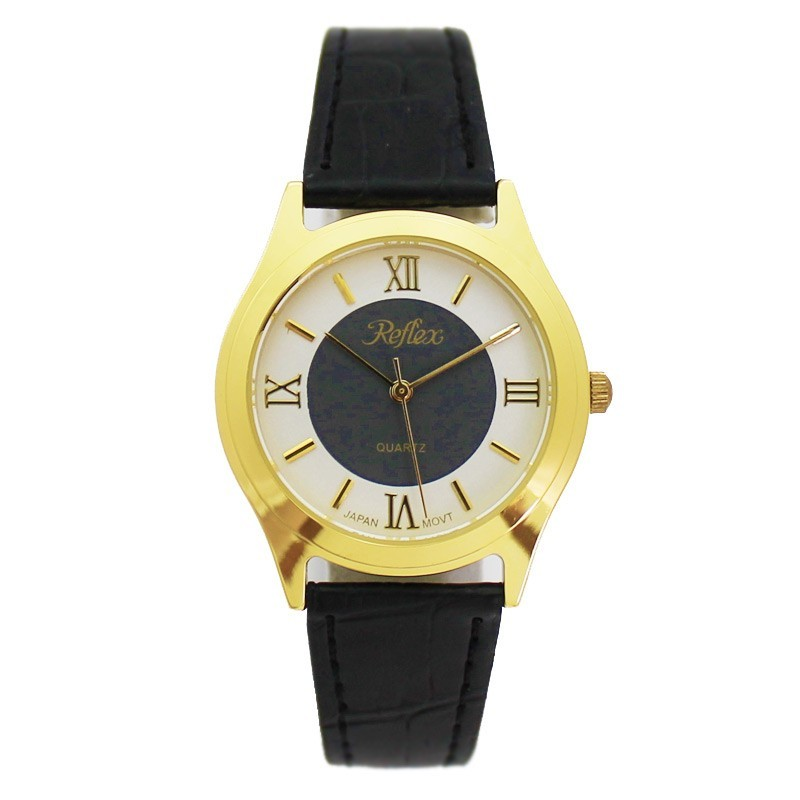 Reflex Gents Watch With Black PU Strap Nubuck Lining