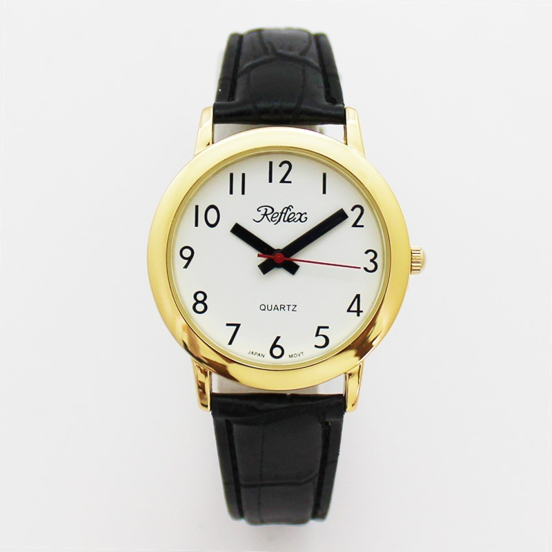 Reflex Gents Watch With PU Strap - Gold