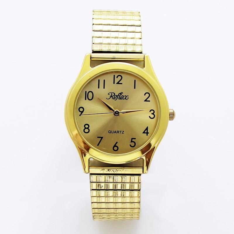 Reflex Mens Expander Watch - Gold