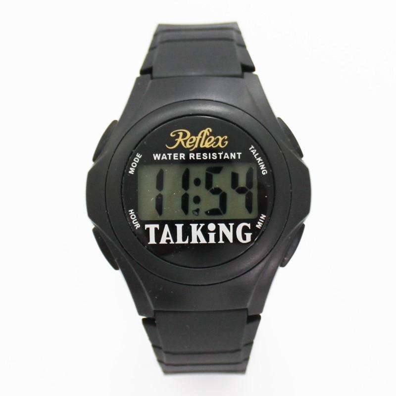 Reflex Mens Talking Sports Watch - Black