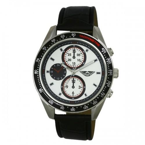 Wingmaster Mens Brushed Aluminium Watch - White