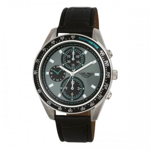 Wingmaster Mens Brushed Aluminium Watch - Black