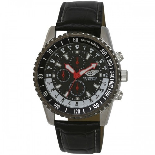 Wingmaster Mens Two Tone Sports Watch - Black