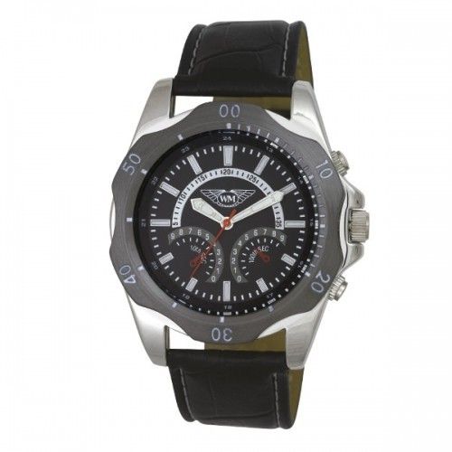 Wingmaster Mens Polished PNP Watch - Black