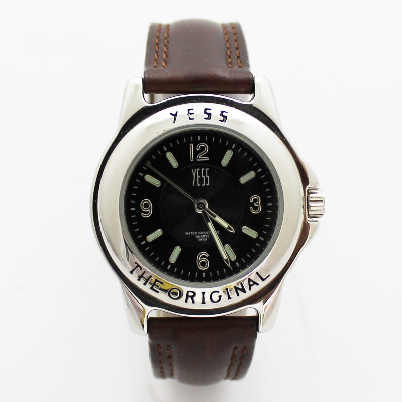 Yess Mens Classic Watch Original - Silver & Brown