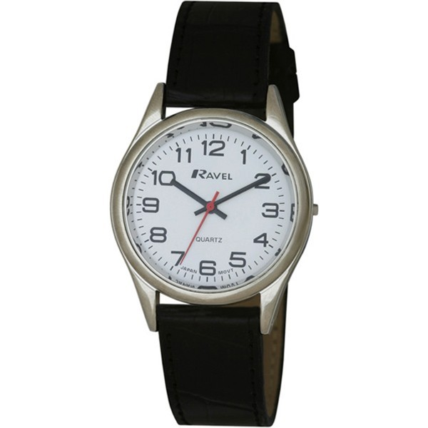Ravel Mens Watches Polished Round Watch - Silver