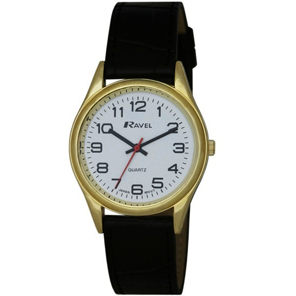 Ravel Mens Watches Polished Round Watch - Gold