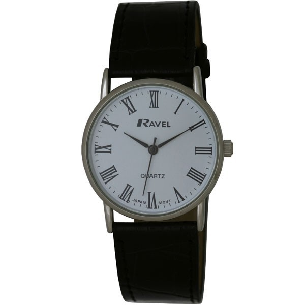 Ravel Mens Polished Round Watch - Silver