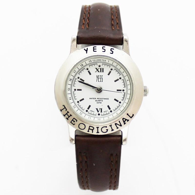Yess Ladies Classic Watch Original - Silver & Brown