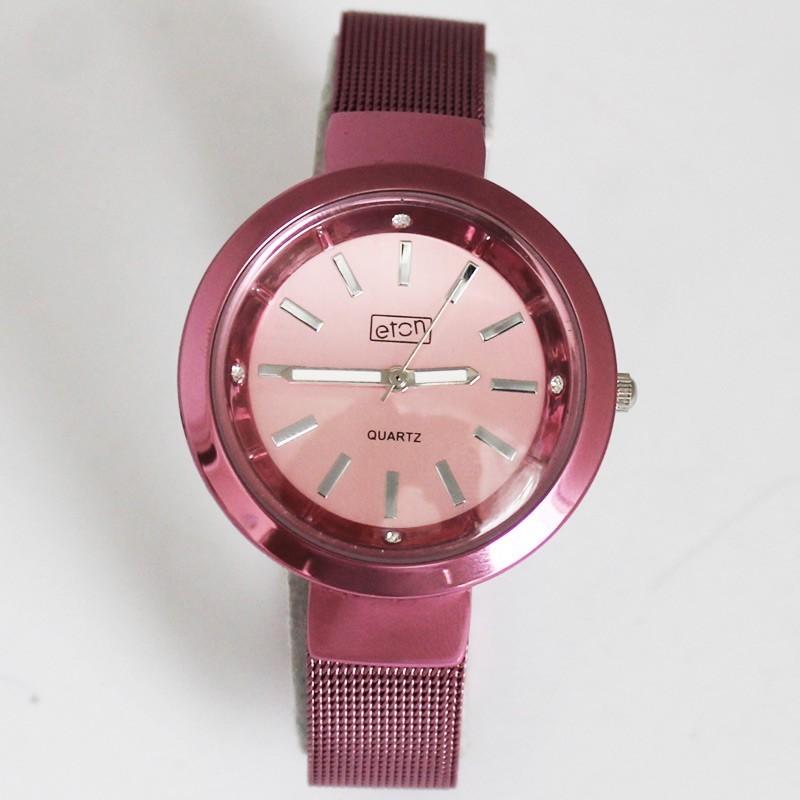 Eton Ladies Round Bracelet Watch - Pink