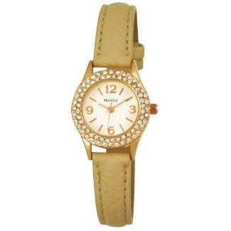 Henley Ladies 2 Row Diamonte Watch - Cream