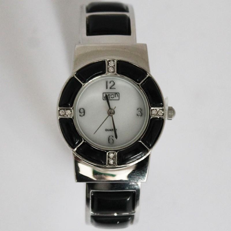 Eton Ladies Enamel Bangle Watch - Black