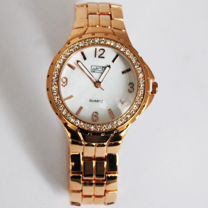 Eton Ladies Rose Gold Diamante Crystal Watch