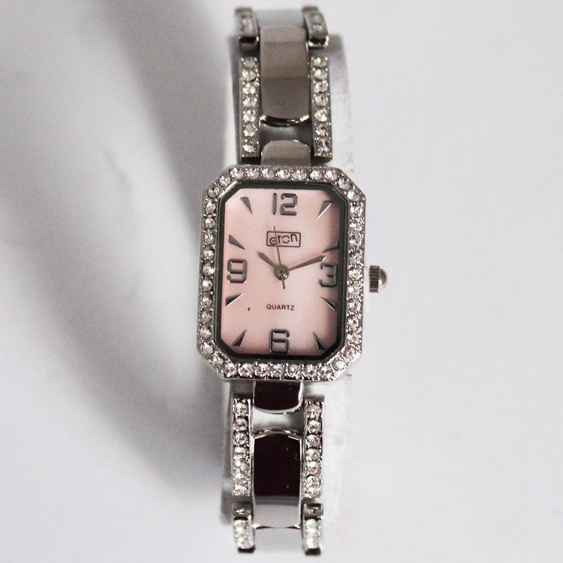 Eton Ladies Crystal Encrusted Watch - Pink