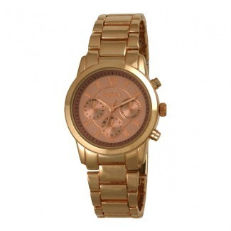 Henley Ladies Polished Bracelet Watch In Rose Gold