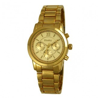 Henley Ladies Polished Bracelet Watch In Gold